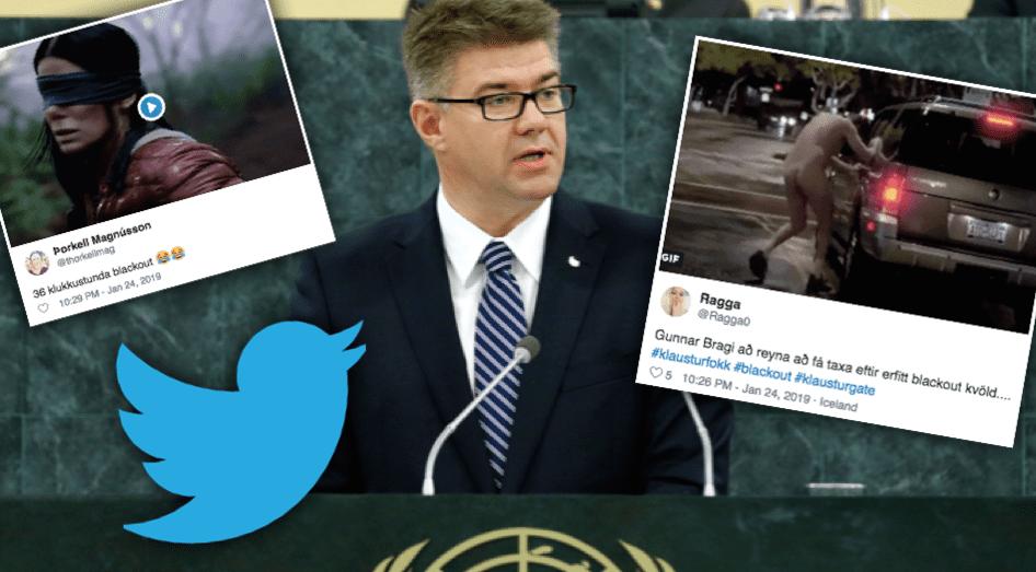 """Twitter sprakk eftir að Gunnar Bragi greindi frá 36 klukkutíma blackouti: """"Aldrei drekka aftur"""""""