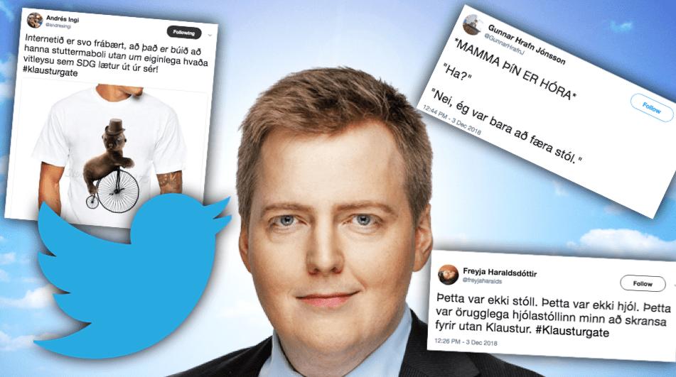 """Twitter sprakk eftir ótrúlegar útskýringar Sigmundar Davíðs: """"Shit hvað hann er klikkaður"""""""