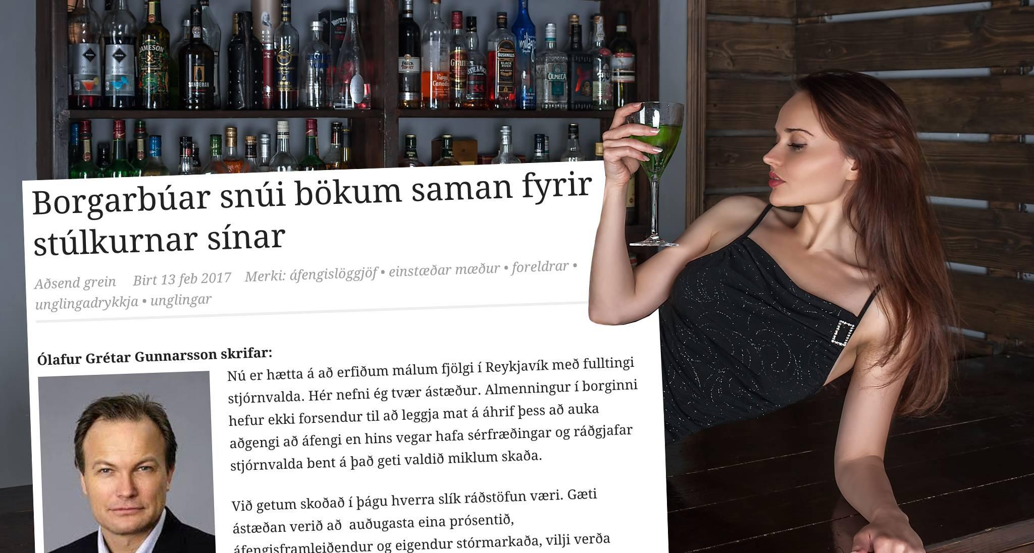 Ólafur segir að ef áfengi verði selt í verslunum muni fleiri konur verða ungar