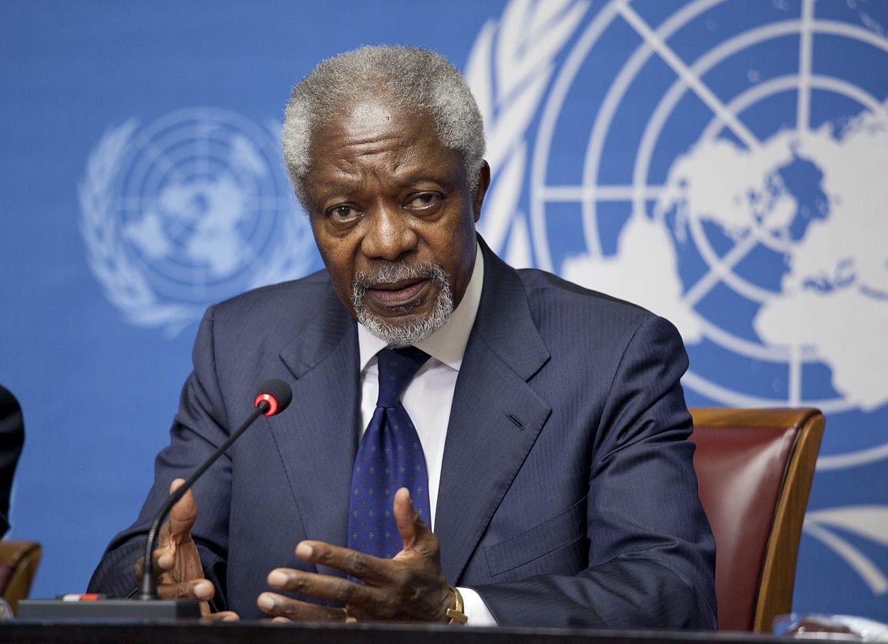 Kofi Annan látinn áttræður að aldri