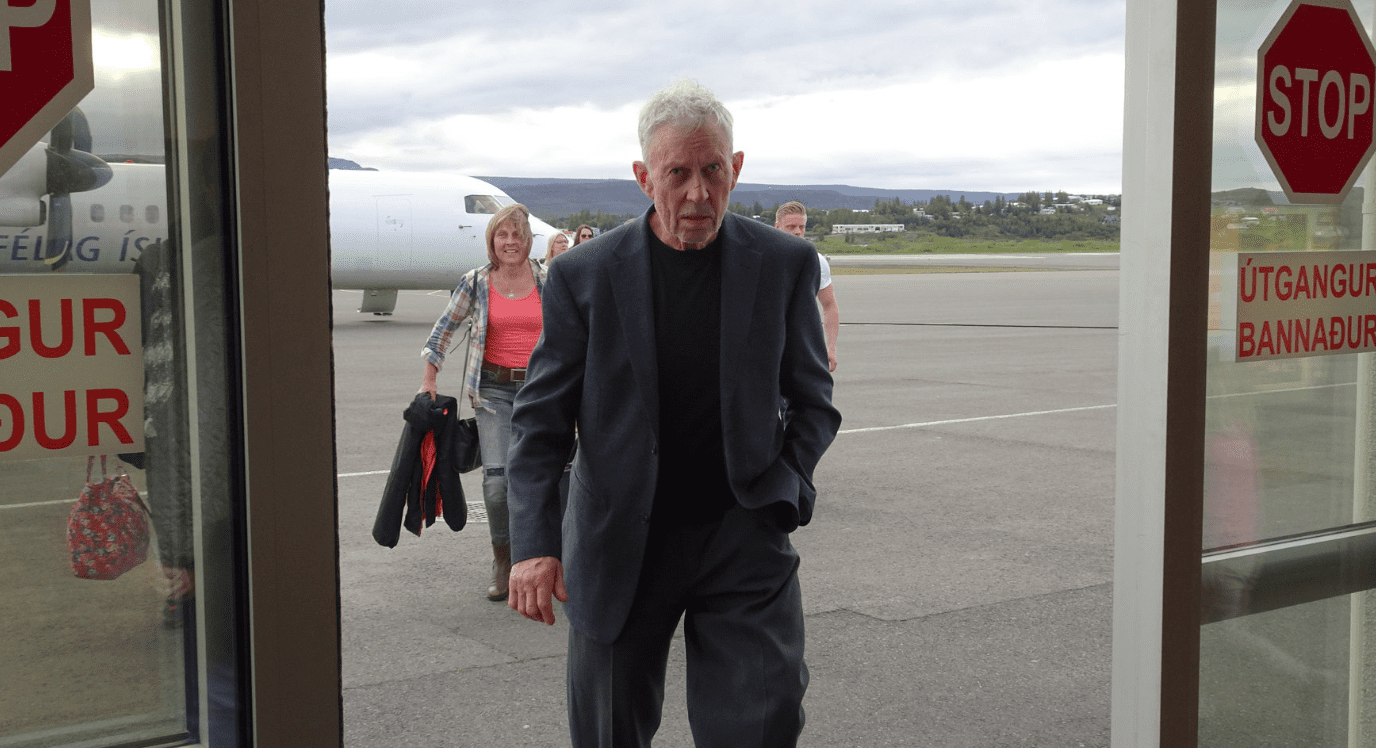 Guðmundur er 72 ára og kom í fyrsta skipti til Reykjavíkur í vikunni eftir að kýr sló halanum í hann
