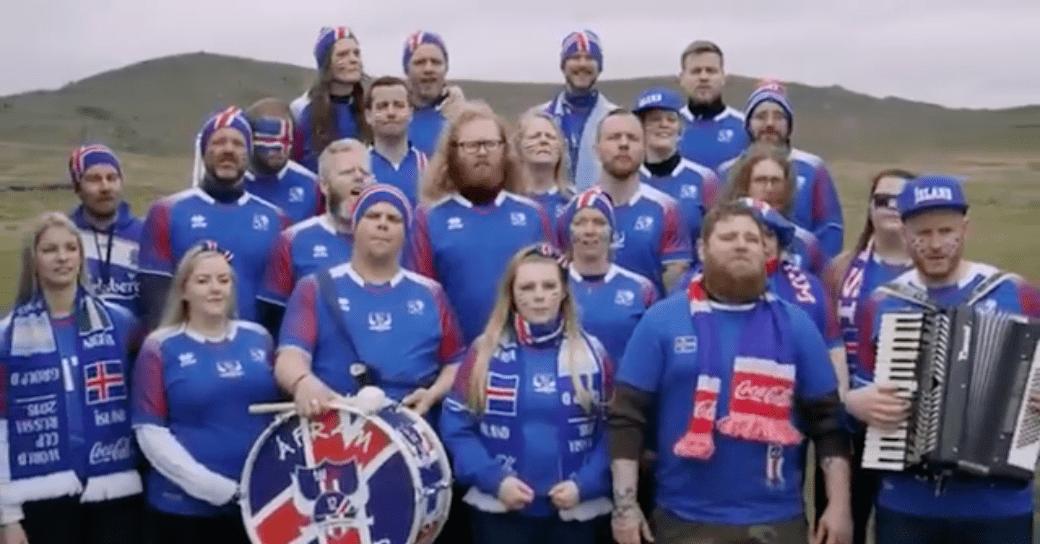 Tólfan og Fílharmónían í skyrauglýsingu í Rússlandi