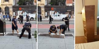 """Róbert gleymdi tjaldinu sínu á gangstéttinni í New York og sprengjusveitin var kölluð út: """"Holy shit this is my box"""""""