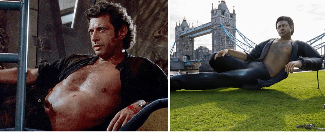 """Risastytta af """"Sexy Jeff Goldblum"""" slær í gegn"""