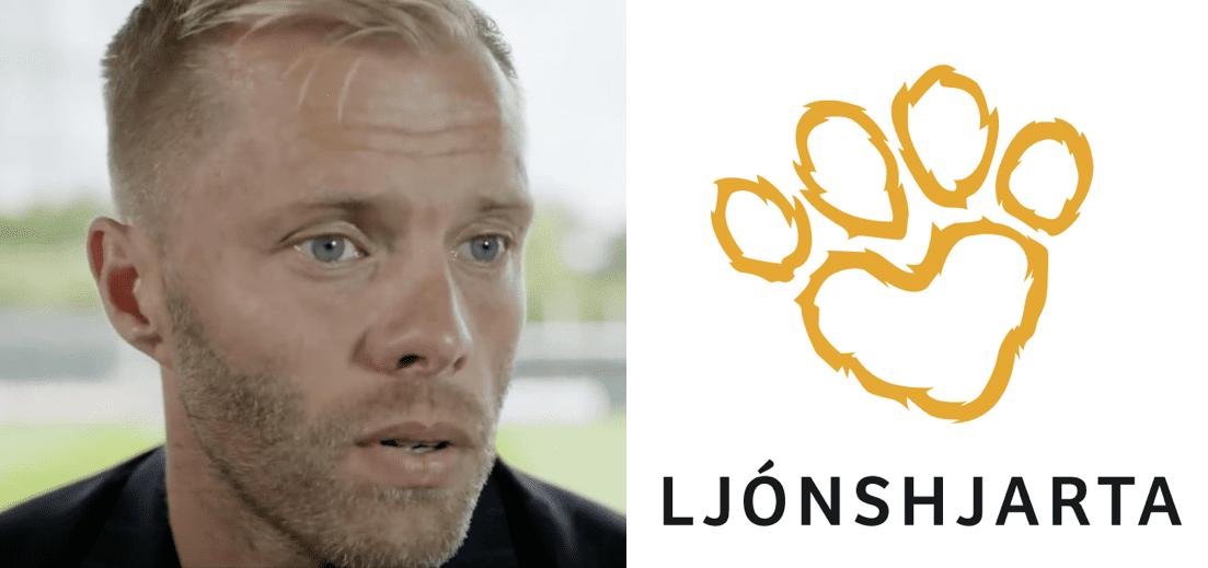 Eiður Smári hleypur fyrir Ljónshjarta