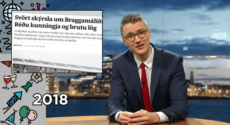 """Atli Fannar fór yfir árið 2018 sem var víst ekkert sérstakt """"Einhver verður að segja þetta"""""""