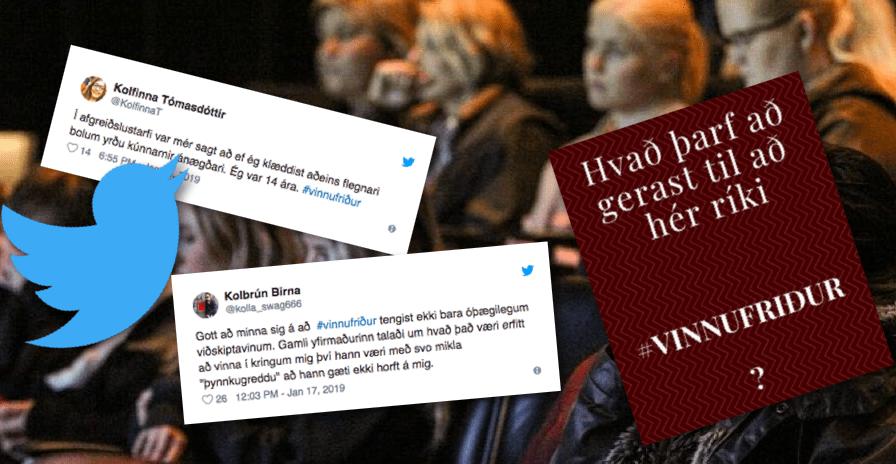 """Konur segja frá áreitni á vinnustað undir myllumerkinu #vinnufriður: """"Ég var 14 ára"""""""