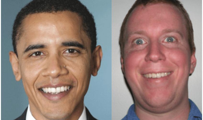 Flækt í netinu: Tvífari Barack Obama