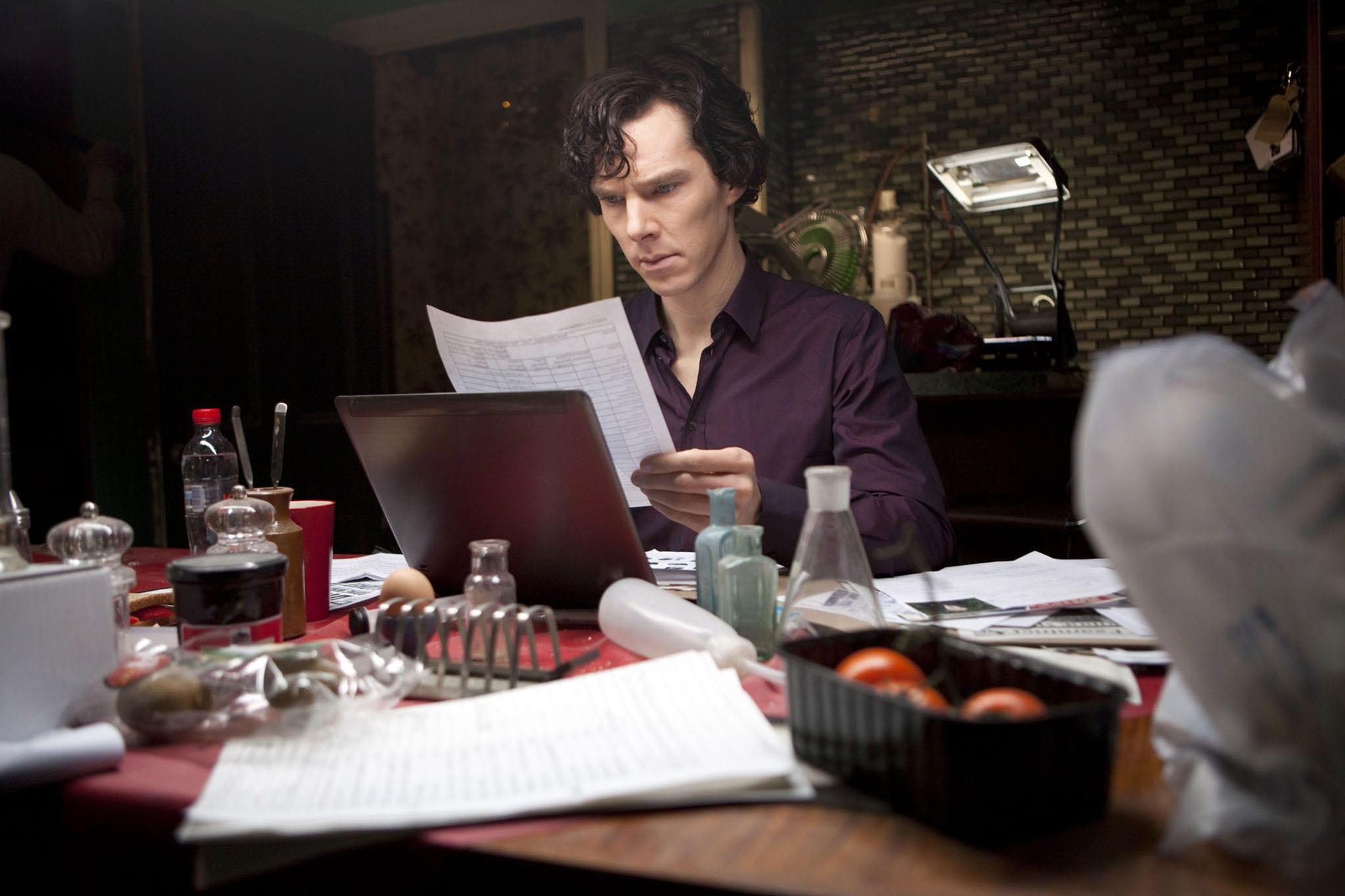 Benedict Cumberbatch bjargaði manni skammt frá heimili Sherlock Holmes