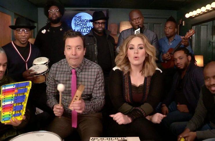 Adele tekur Hello með Jimmy Fallon og félögum