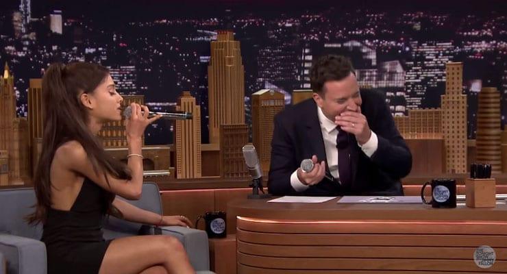 Ariana Grande massar Celine Dion eftirhermu