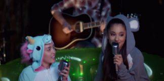 Miley Cyrus og Ariana Grande flytja gamlan smell
