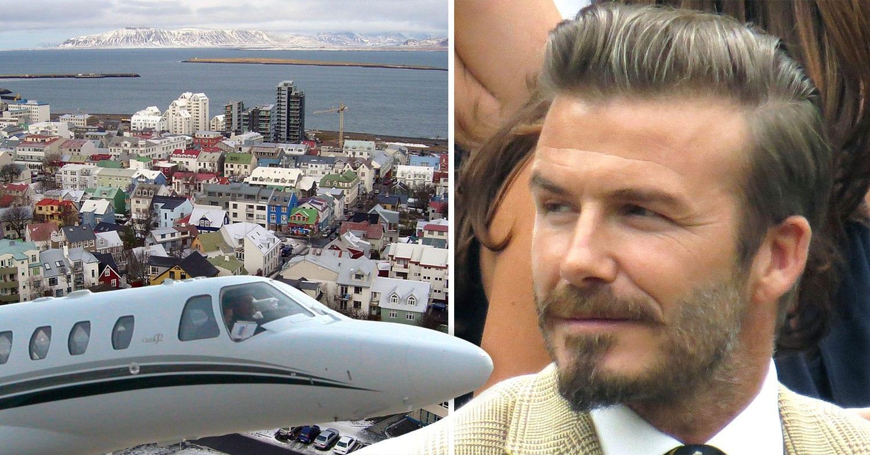 David Beckham á Íslandi
