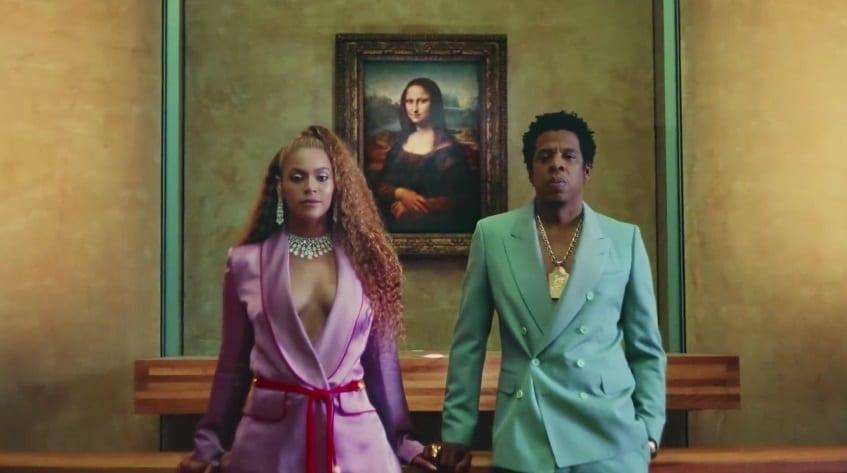 Beyoncé og Jay-Z festust uppi á sviði á tónleikum um helgina
