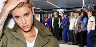 Justin Bieber hjálpaði kór heilbrigðisstarfsfólks á topp breska vinsældarlistans