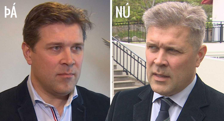 """Ríkisstjórnarsamstarfið ekki að gera Bjarna gráhærðan: """"Þegar ég fer í klippingu kemur grái karlinn"""""""