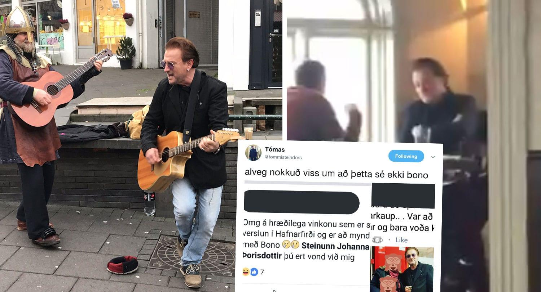 Kom Bono til landsins? Er hann hér enn? Hvaða maður var að spila á gítar á Laugavegi?