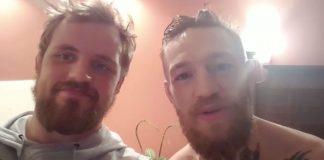 Conor McGregor og Gunnar Nelson sendu Mjölnisfólki kveðju og við erum með myndbandið