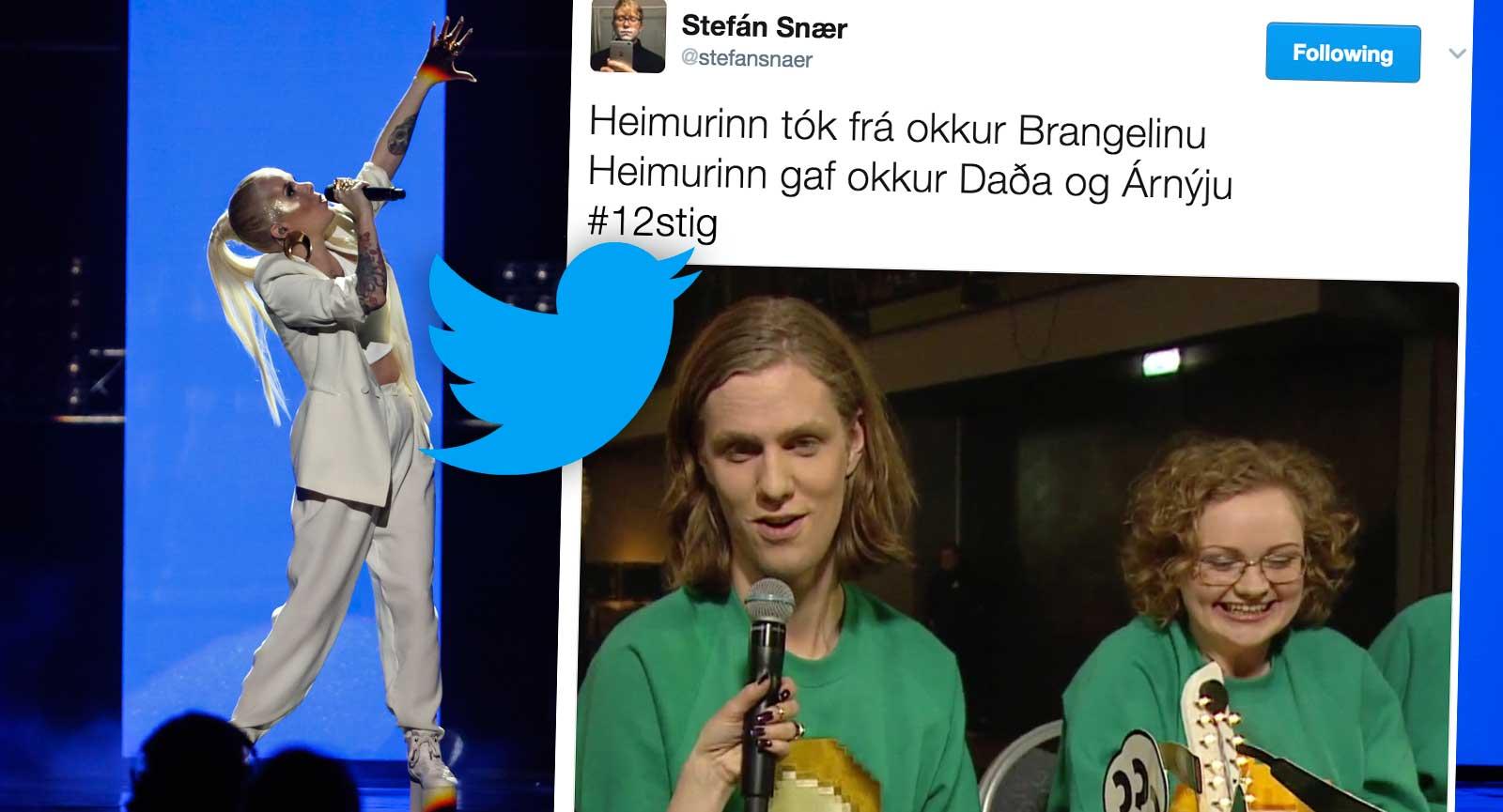 """Grínkeppnin á Twitter var á yfirsnúningi yfir Eurovision: """"Heimurinn gaf okkur Daða og Árnýju"""""""
