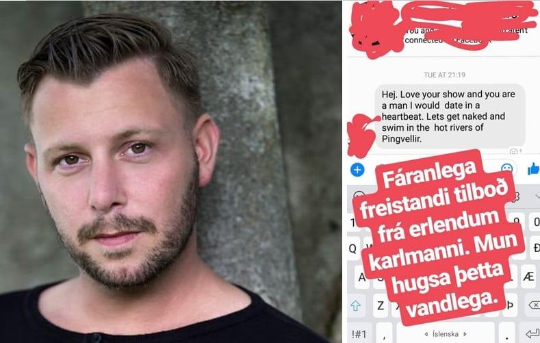 Erlendur karlmaður vill synda nakinn með Steinda á Þingvöllum