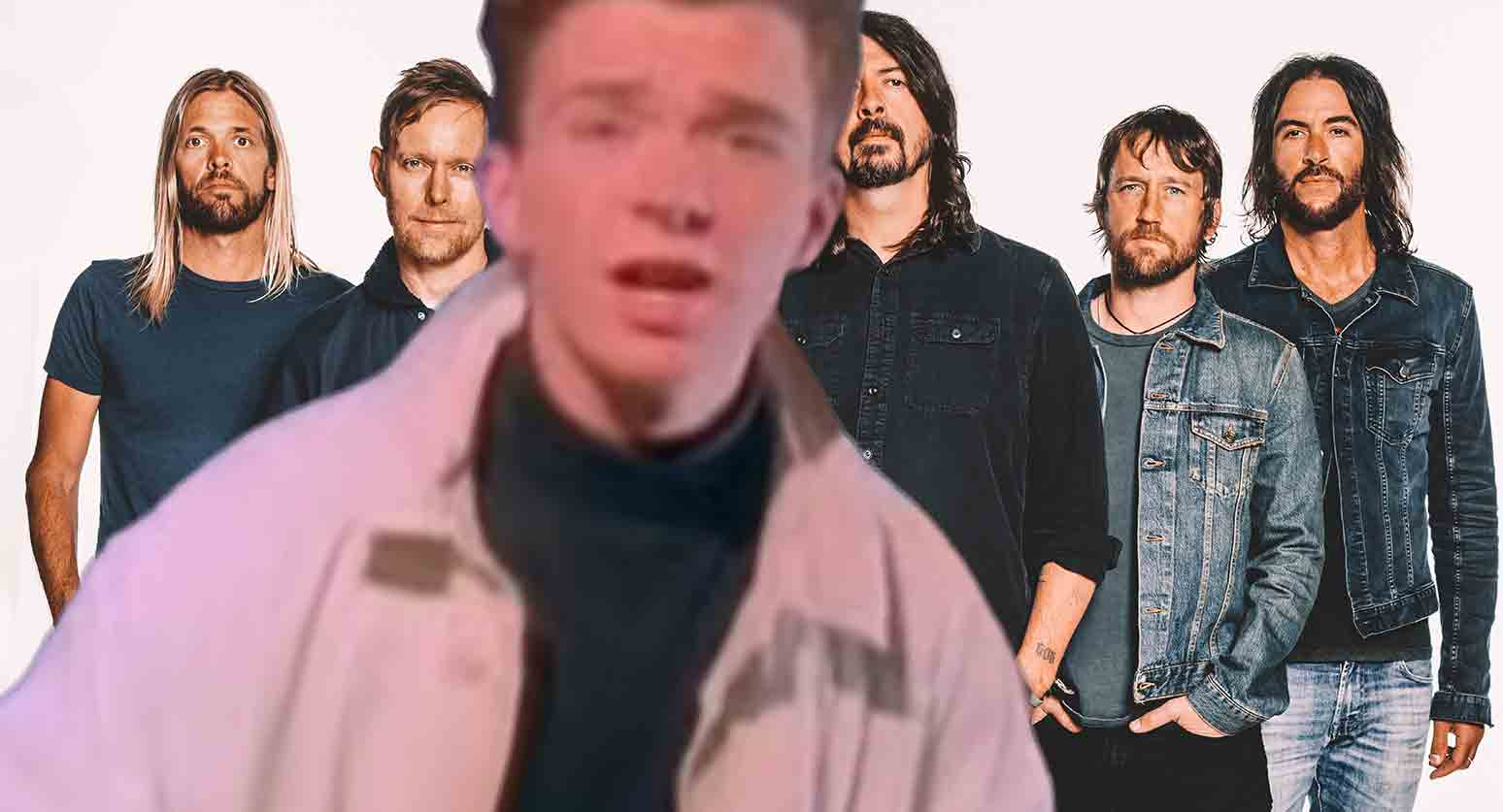 Foo Fighters Rick Rollaði aðdáendur sína og tók Never Gonna Give You Up með Rick Astley