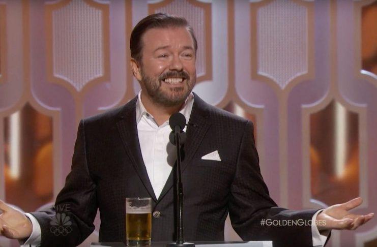 Ricky Gervais tók bransann í gegn á Golden Globe