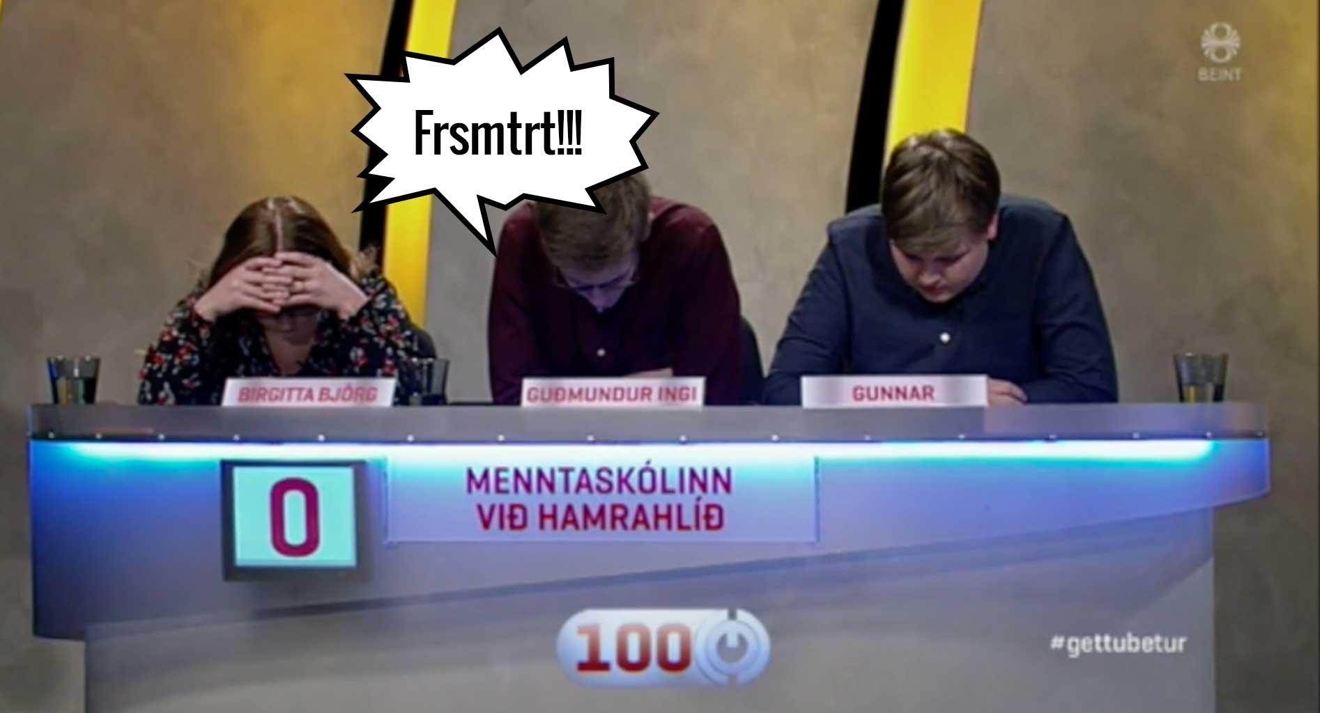 Hægt á hraðaspurningunum í Gettu betur: Skilur þú svörin frá mögnuðum MH-ingum?