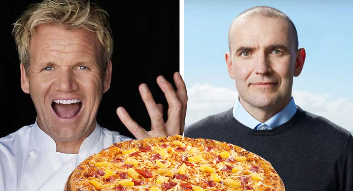 """Gordon Ramsay lokar stóra ananasmálinu í eitt skipti fyrir öll: """"Þú setur ekki fokking ananas á pizzu"""""""