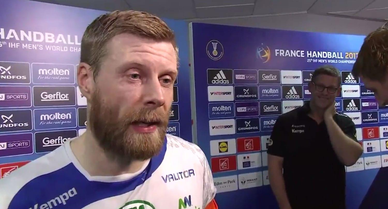 """Myndband: Pirraður Guðjón Valur lætur Þorkel á RÚV heyra það: """"Ekki byrja á þessu"""""""