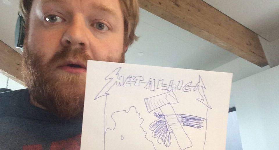 Haukur greip til örþrifaráða þegar Metallica bað um myndir af plötuumslagi — og sló í gegn!