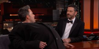 Ben Affleck laumaði Matt Damon í þátt Jimmy Kimmel í ótrúlegum búningi