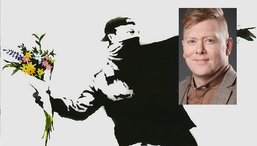 Með ósvikið Banksy verk heima í stofu