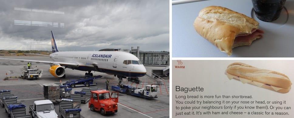 """Icelandair hætt að bjóða upp á baguette með skinku og osti: """"Eina sem ég borðaði í flugi með þeim"""""""