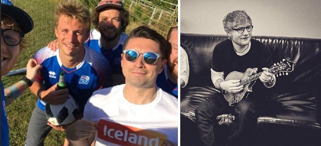 Ed Sheeran bætist í aðdáendahóp íslenska landsliðsins