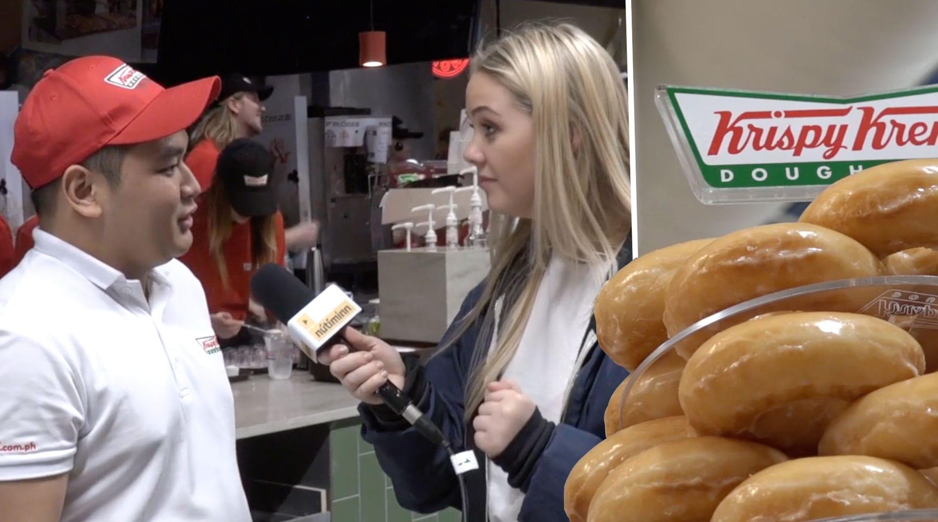 Myndband: Michael Jordan bakar Krispy Kreme-kleinuhringi í Smáralind