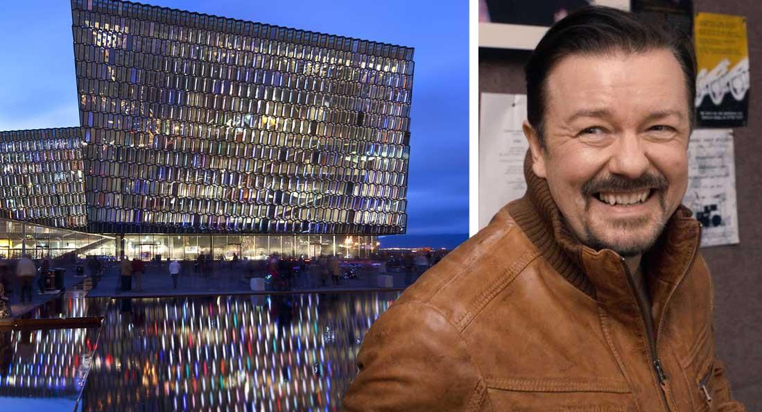 """Ricky Gervais sló í gegn í Hörpu: Skófla í andlitið á """"félagslegum réttlætisriddurum"""""""