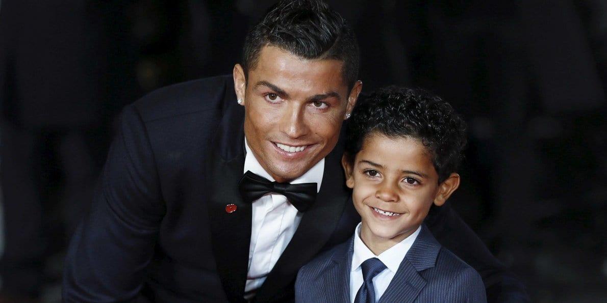 Sonur Cristiano Ronaldo sýnir meistaratakta á vellinum