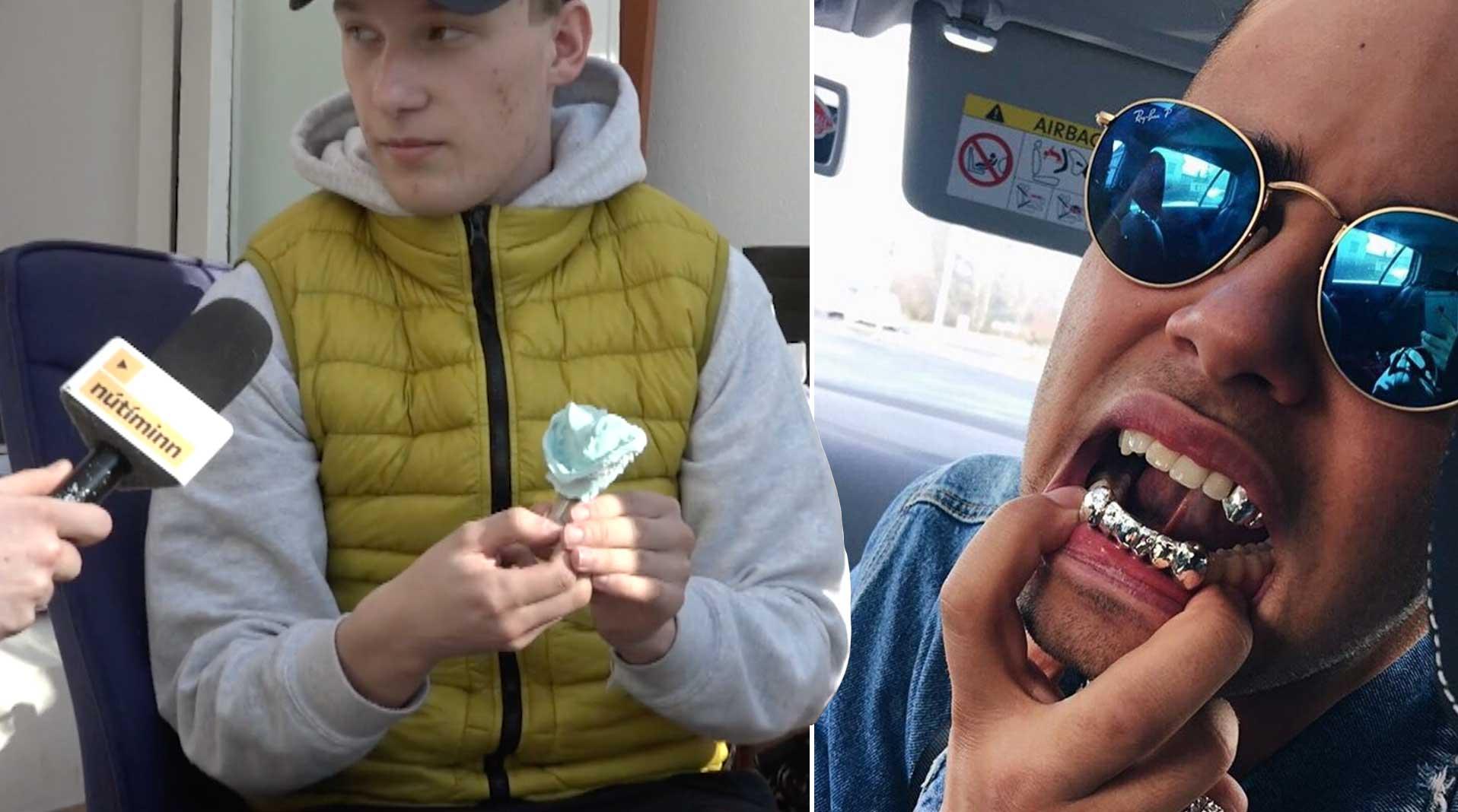Hlynur Snær smíðar vinsælt tannskart upp í munninn á fólki