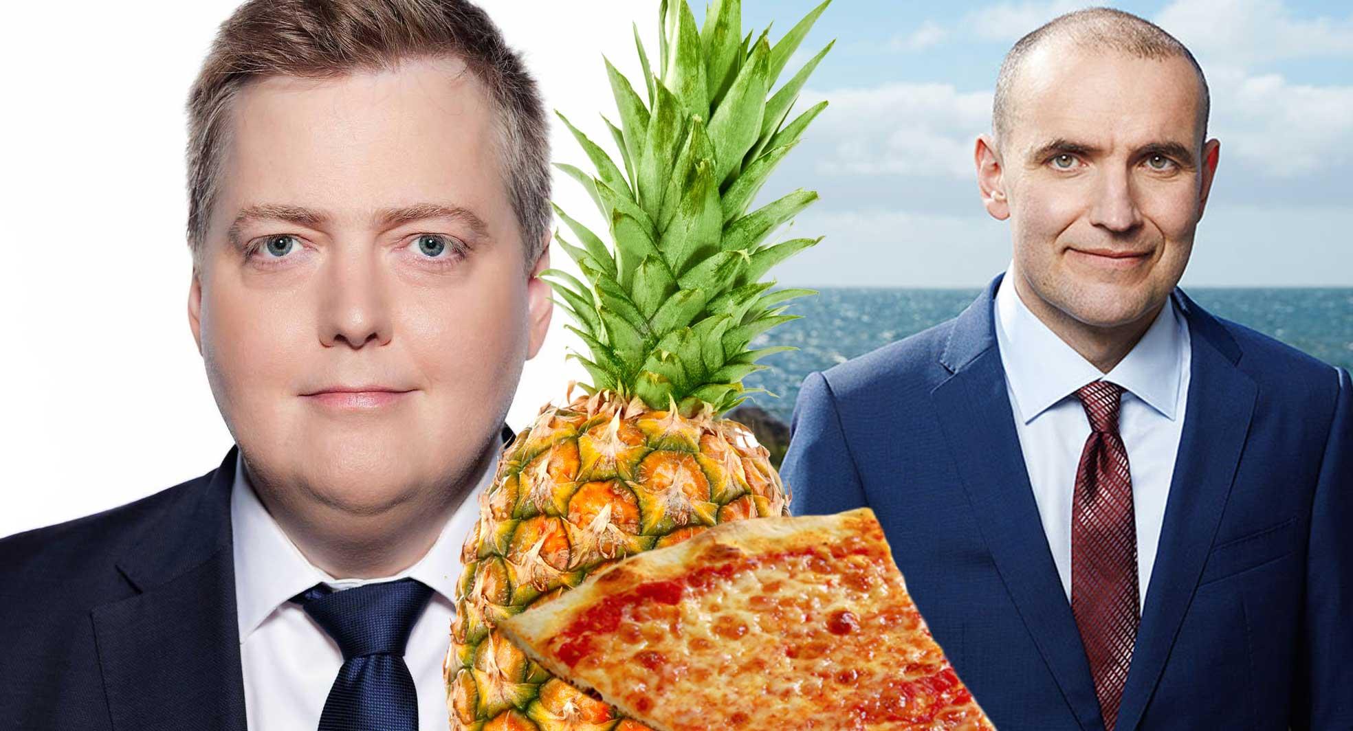 Sigmundur tekur upp hanskann fyrir Guðna: Skiljanlegt að forsetinn vilji banna ananas á pizzur