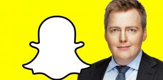 2.500 manns fylgjast með forsætisráðherra á Snapchat