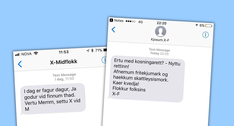 """Fólk á Twitter kvartar undan óumbeðnum sms-um frá Flokki fólksins og Miðflokknum: """"Hættið þessu"""""""