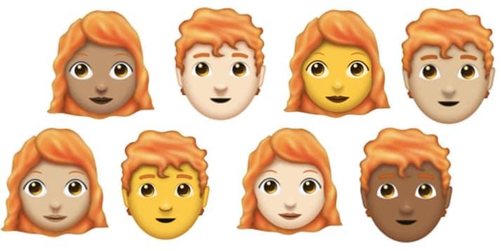 Rauðhærðir fá loksins sín eigin emoji-tákn