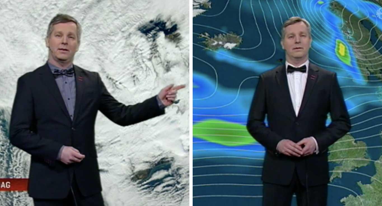 Best klæddi veðurfræðingur landsins minnir á James Bond: Klæðir sig eftir skapi