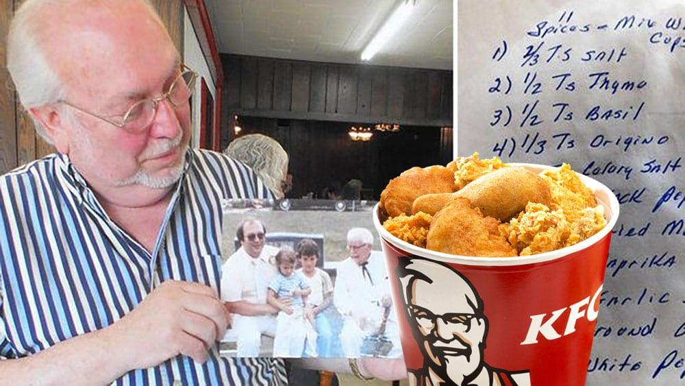 Er þetta leynilega kryddblandan á KFC? Frændi ofurstans sýndi blaðamanni handskrifaða uppskrift