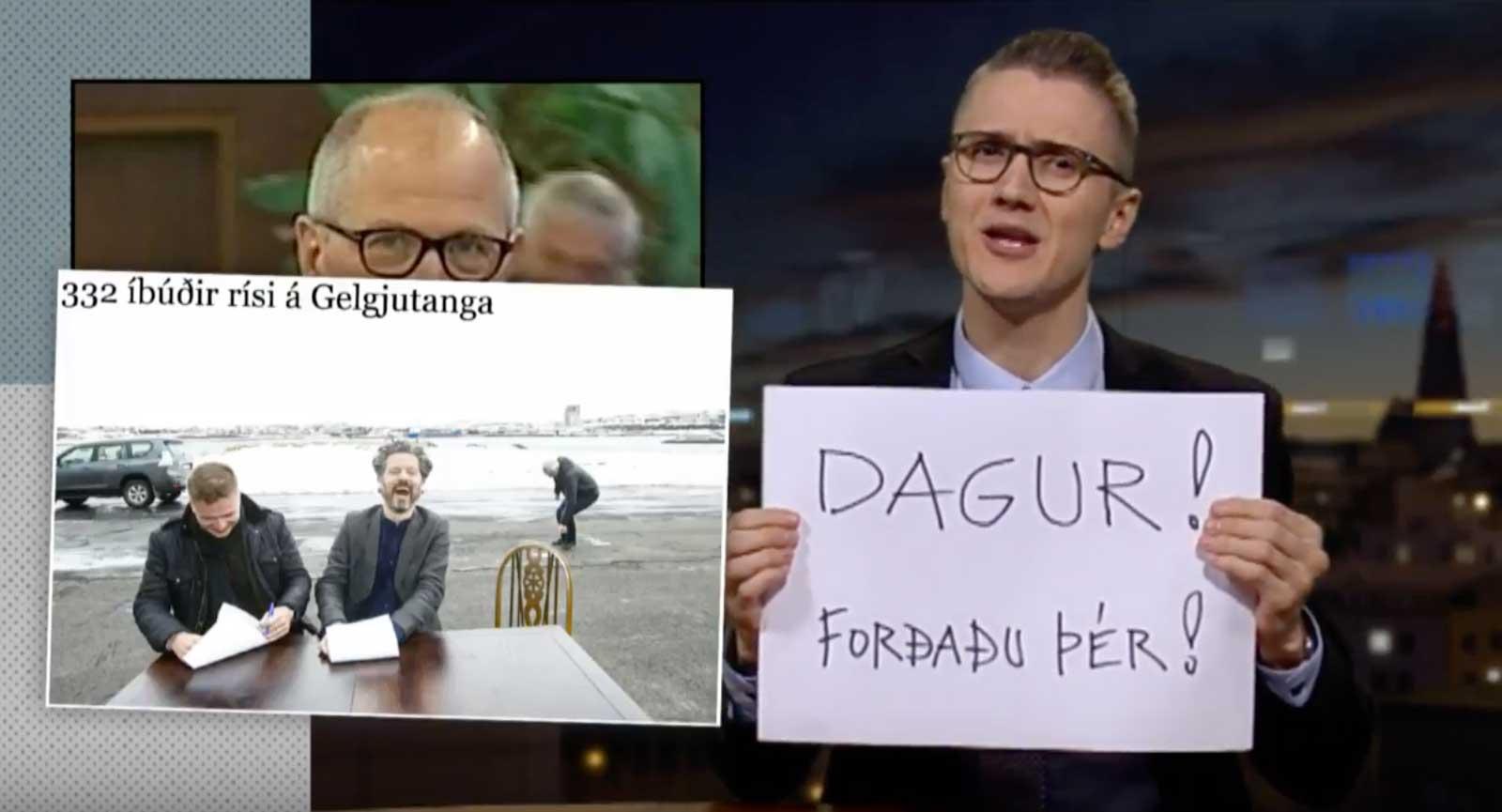 Ólafur Ólafsson og HB Grandi fengu á baukinn í Vikunni með Gísla Marteini á RÚV