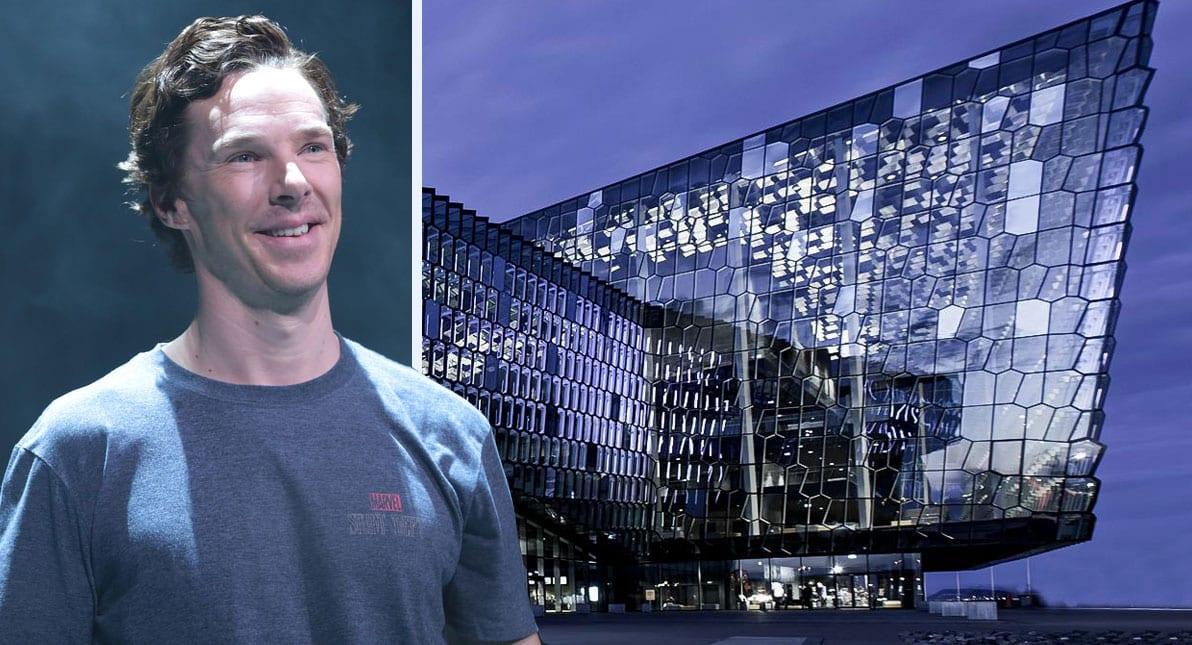 Benedict Cumberbatch djammar með Sigur Rós í Hörpu