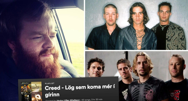 """Dularfullur prakkari gerði Hauk að aðdáanda Creed og Nickelback: """"Þetta er mjög skepnulegt grín"""""""