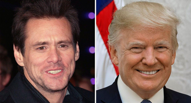 Jim Carrey málar mynd af Donald Trump og vill fá að sýna hana á Smithsonian-safninu