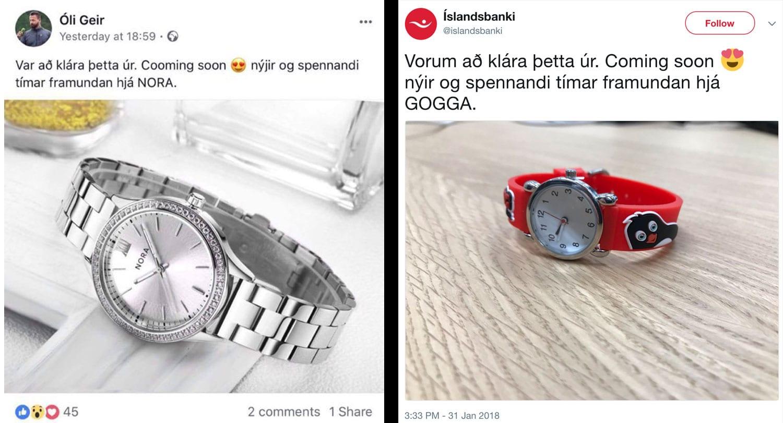 Íslandsbanki skýtur nett á úraævintýri Óla Geirs