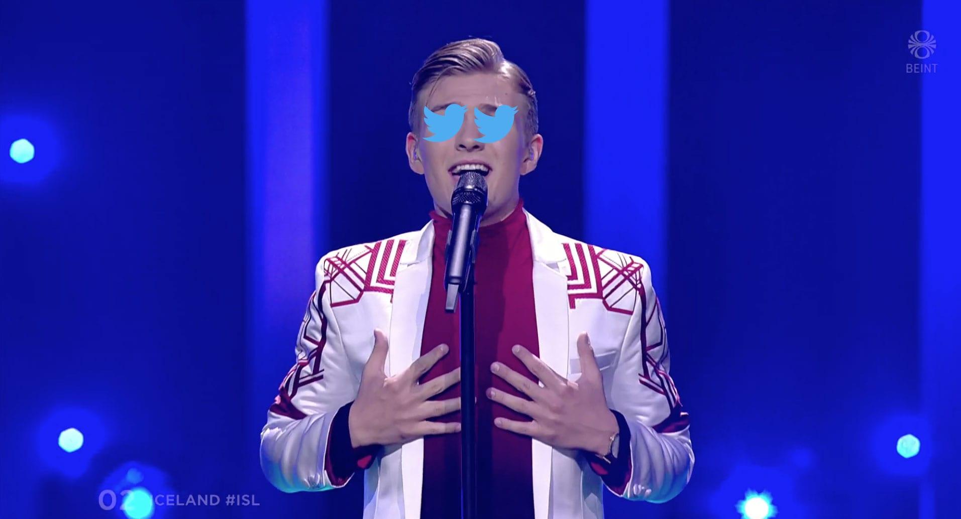 """Twitter var á yfirsnúningi þegar Eurovision hófst í Portúgal: """"Starfrækir Áttan söngskóla í Makedóníu?"""""""